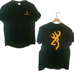 4/$25 Browning Mens T Shirt Black Medium